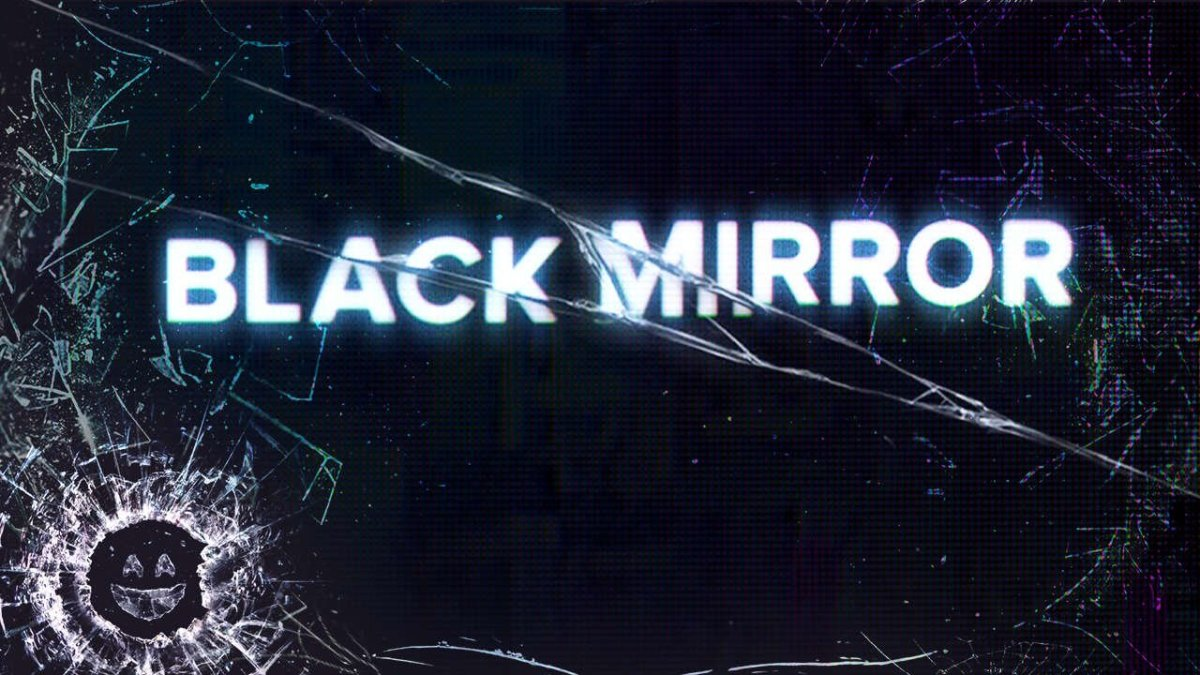 The cracked title screen for the show