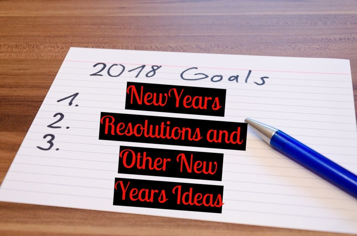 New Year's Resolutions and Other New Year's Ideas