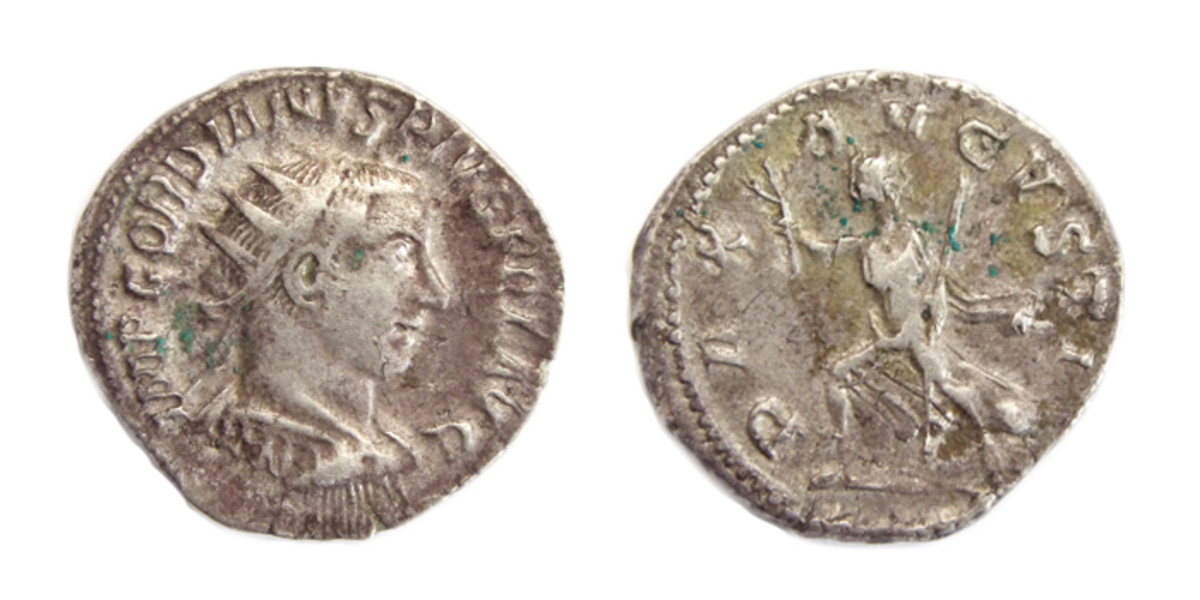 Coin from Antioch labeled Pax Augusta