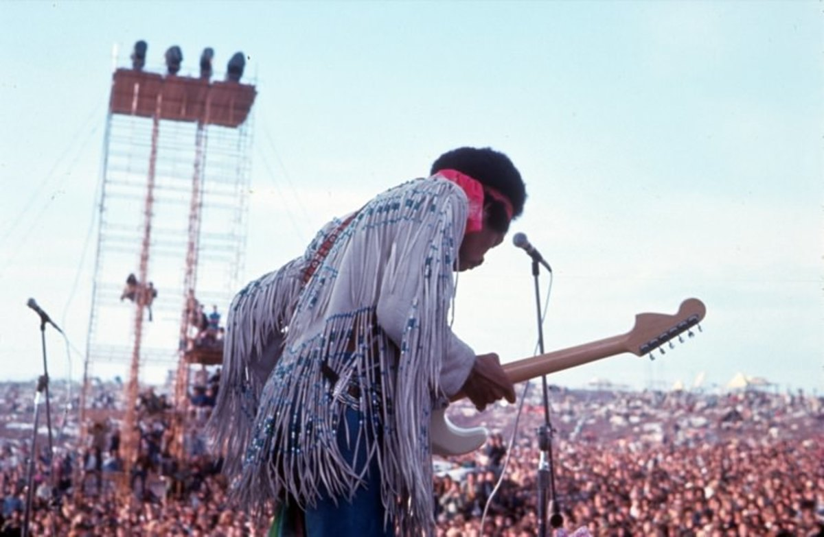 The late, (sadly) Jimi Hendrix  set at Woodstock.