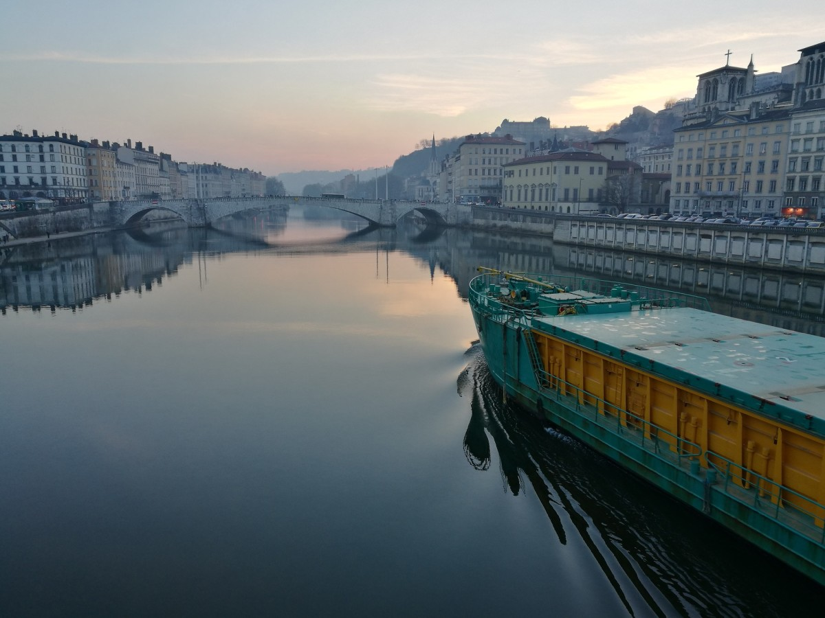 Looking Out Over the Saône at Dawn
