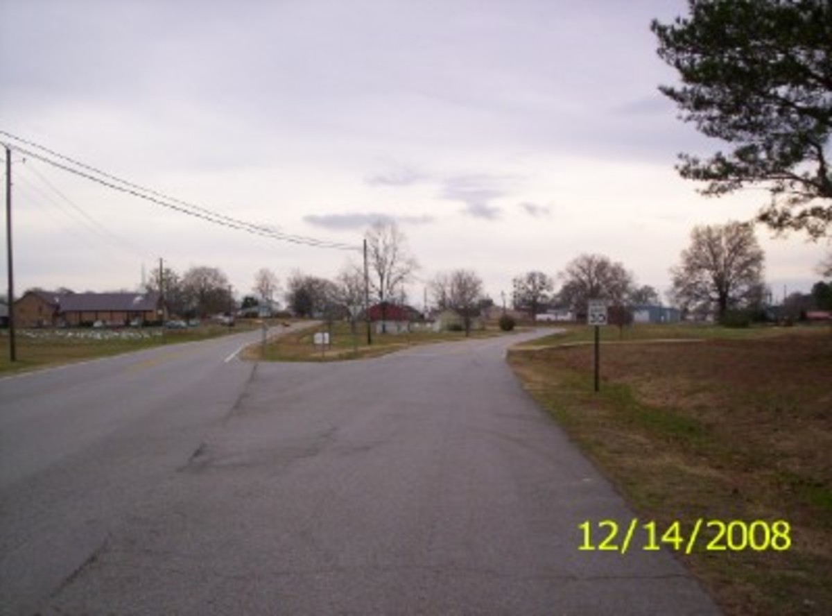 This is a Long View of the City of Hodges, Ala., where (a) city diner once stood. The Hodges City Diner, may she always be remembered.