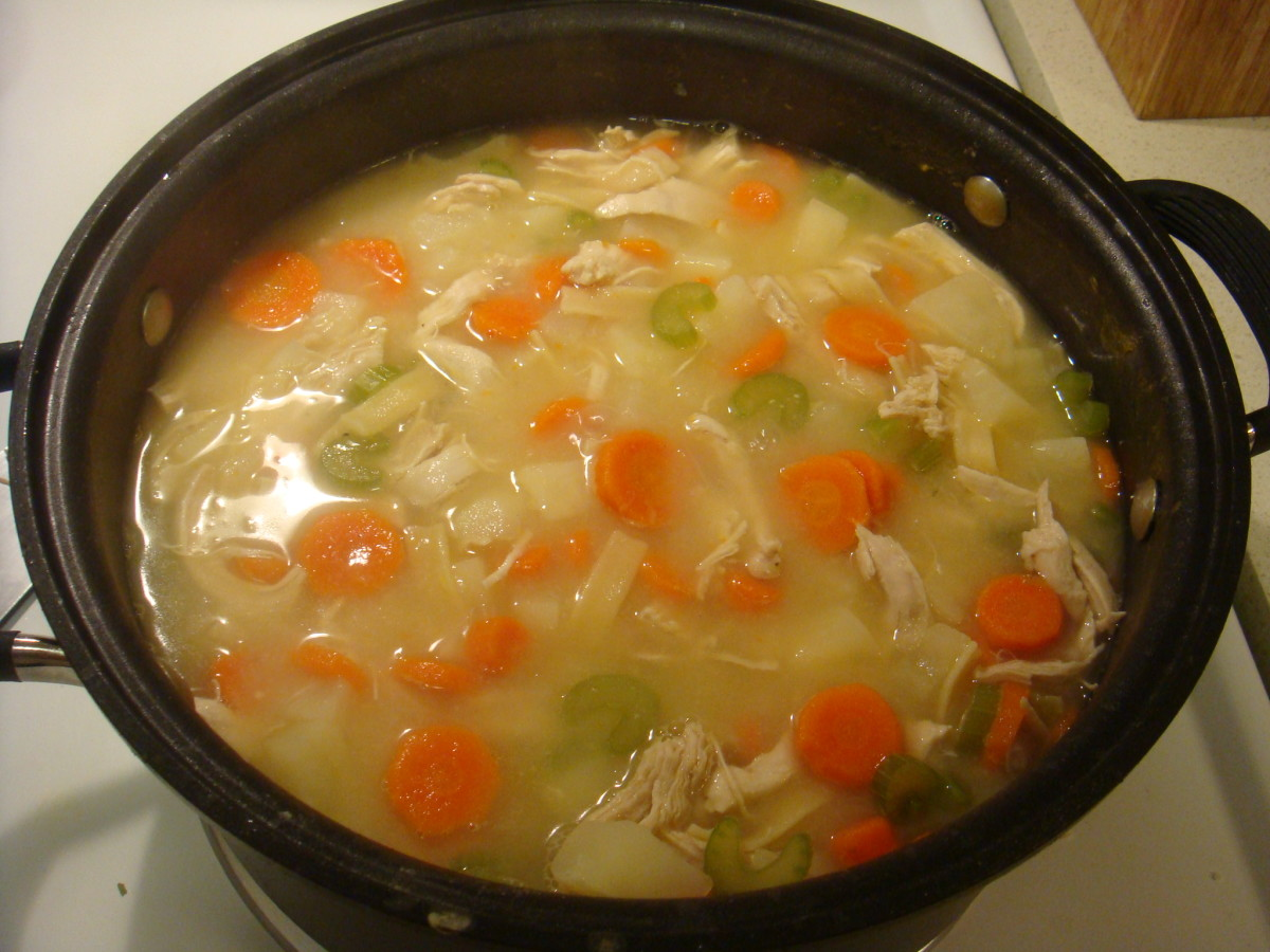 Chicken Noodle Soup is excellent to have during cold and flu season.  Adding a little black pepper helps you recover in no time at all.