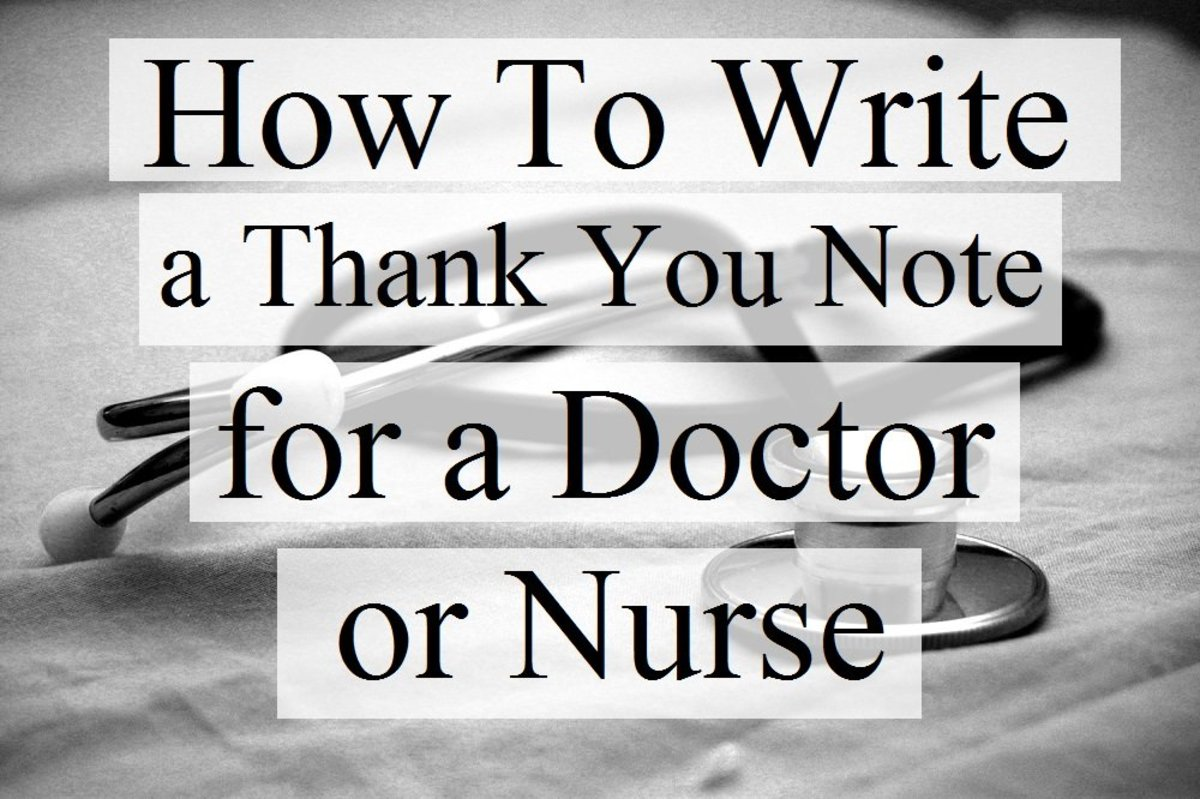 How to Write Thank You Notes for Doctors and Nurses