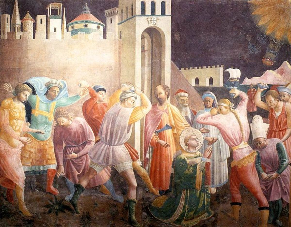 A fifteenth century painting depicting the stoning of Stephen