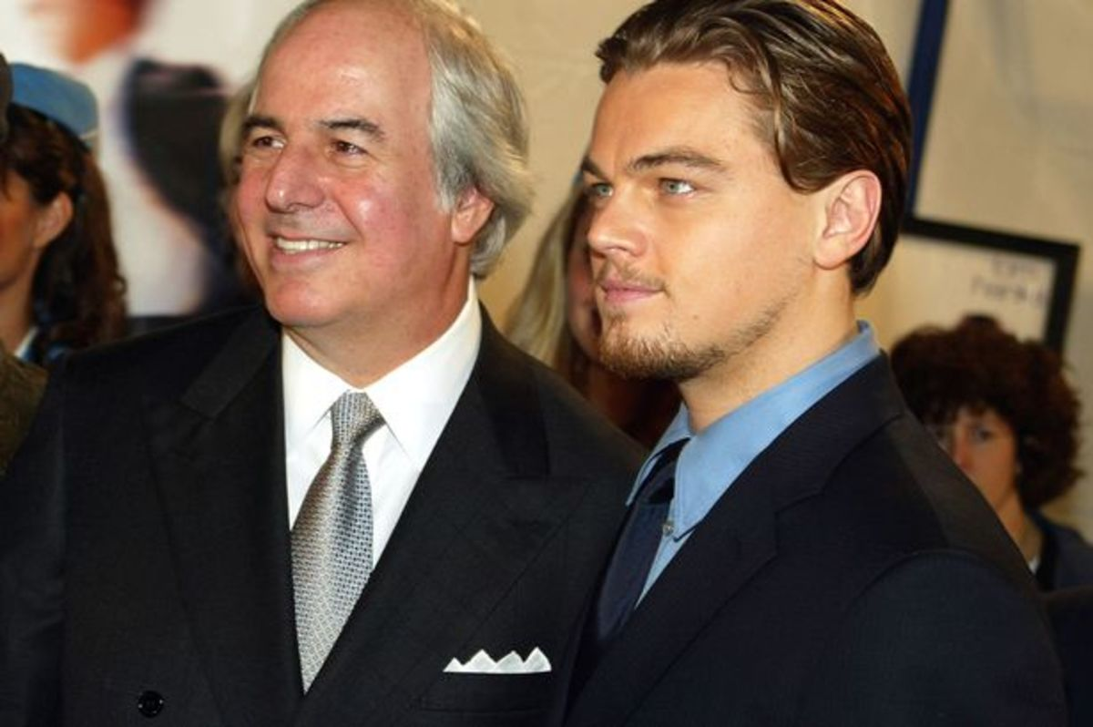 Frank Abagnale of left with Leonardo DiCaprio who played him in the movie Catch Me If You Can