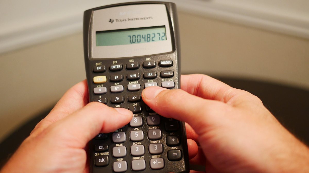 how to answer amortization problems with a ti baii calculator