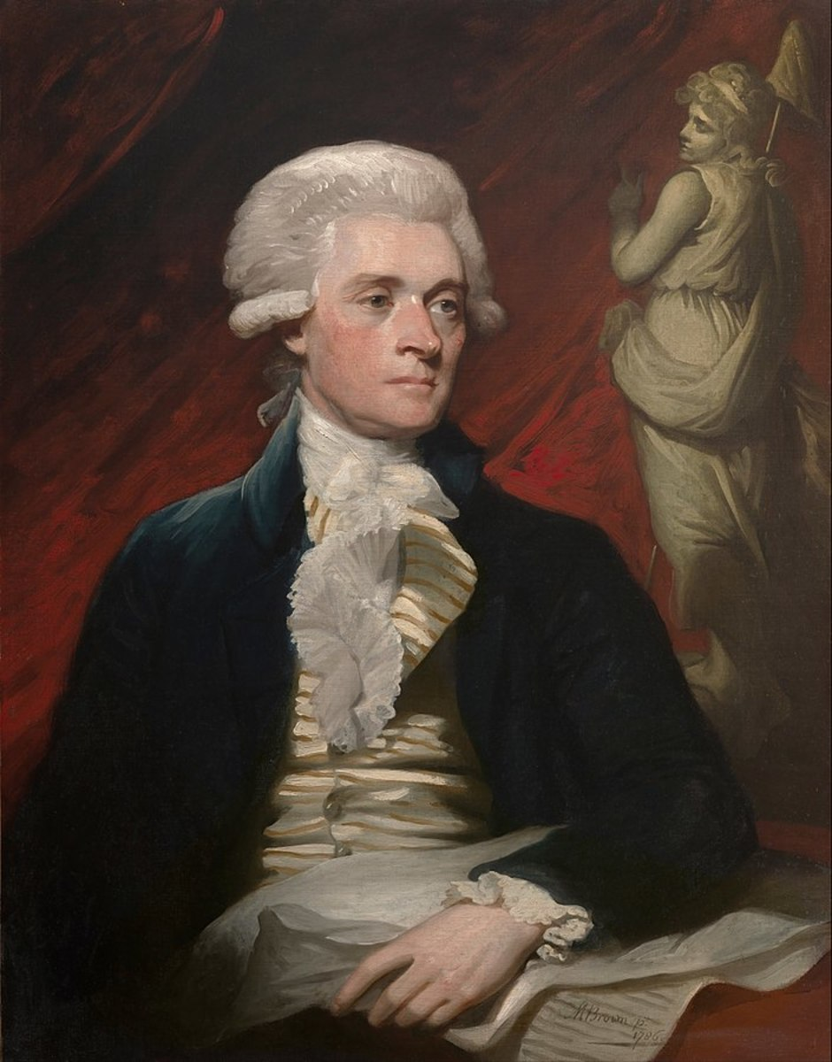 Mather Brown painted this portrait of Thomas Jefferson in 1786, while he was in England