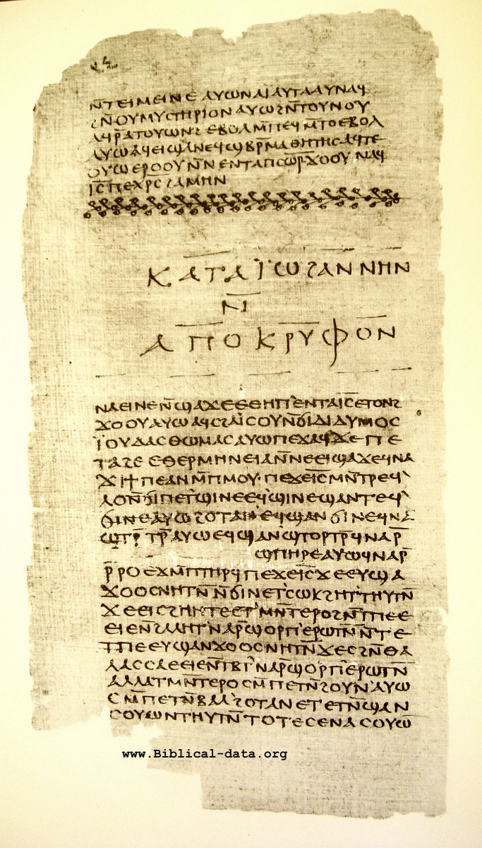 First Page of the Gospel of Thomas, Nag Hammadi Codex II