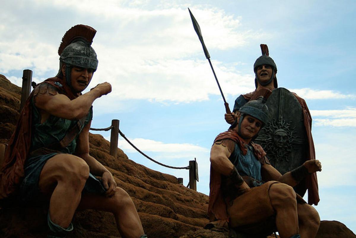 Roman Legionaire at rest.