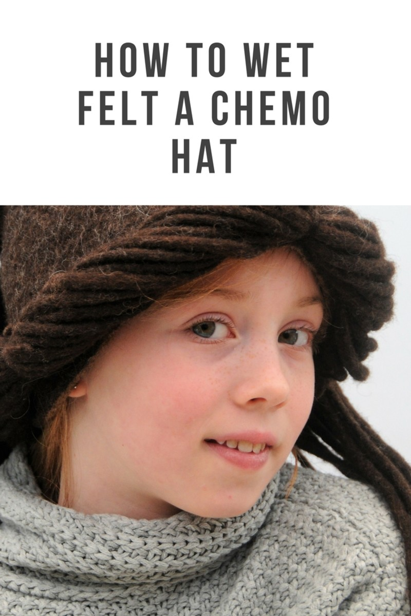 Wet Felted Boho Chemo Hat