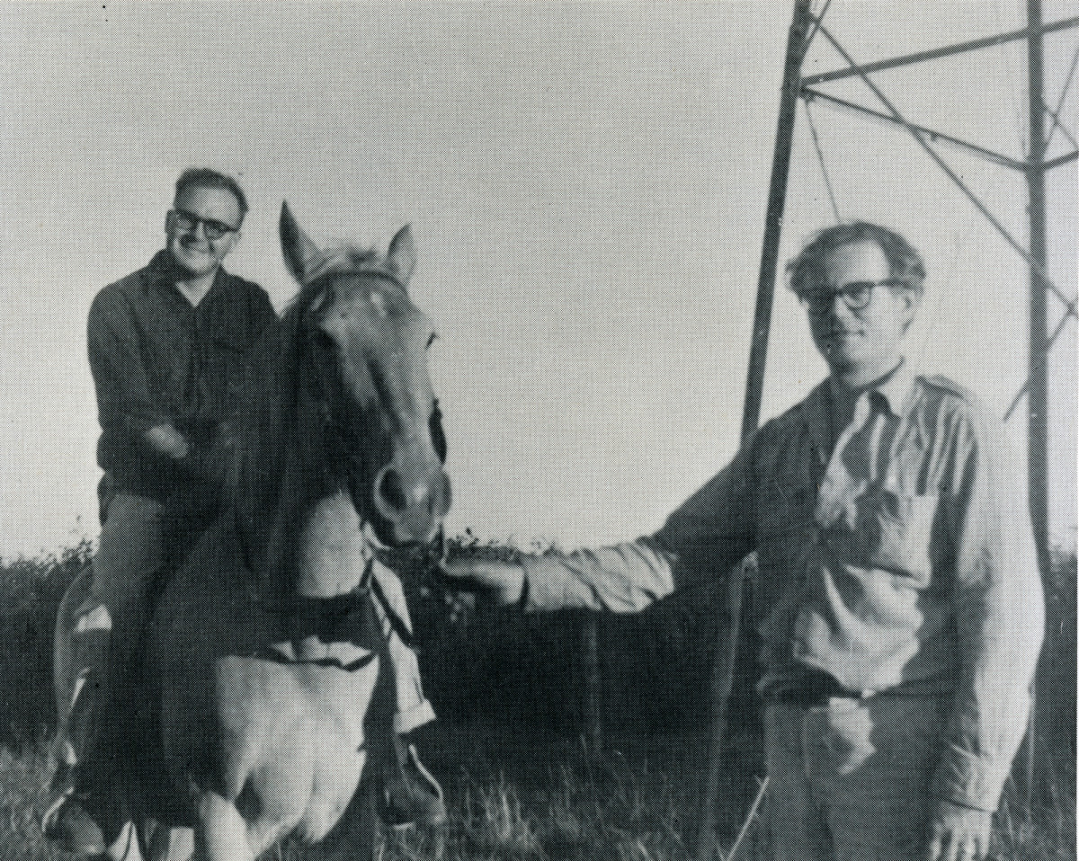 James Wright (left) with fellow poet Robert Bly