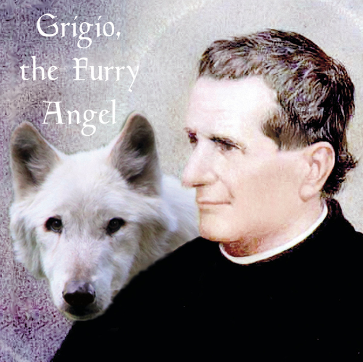 Don Bosco with his mysterious dog.
