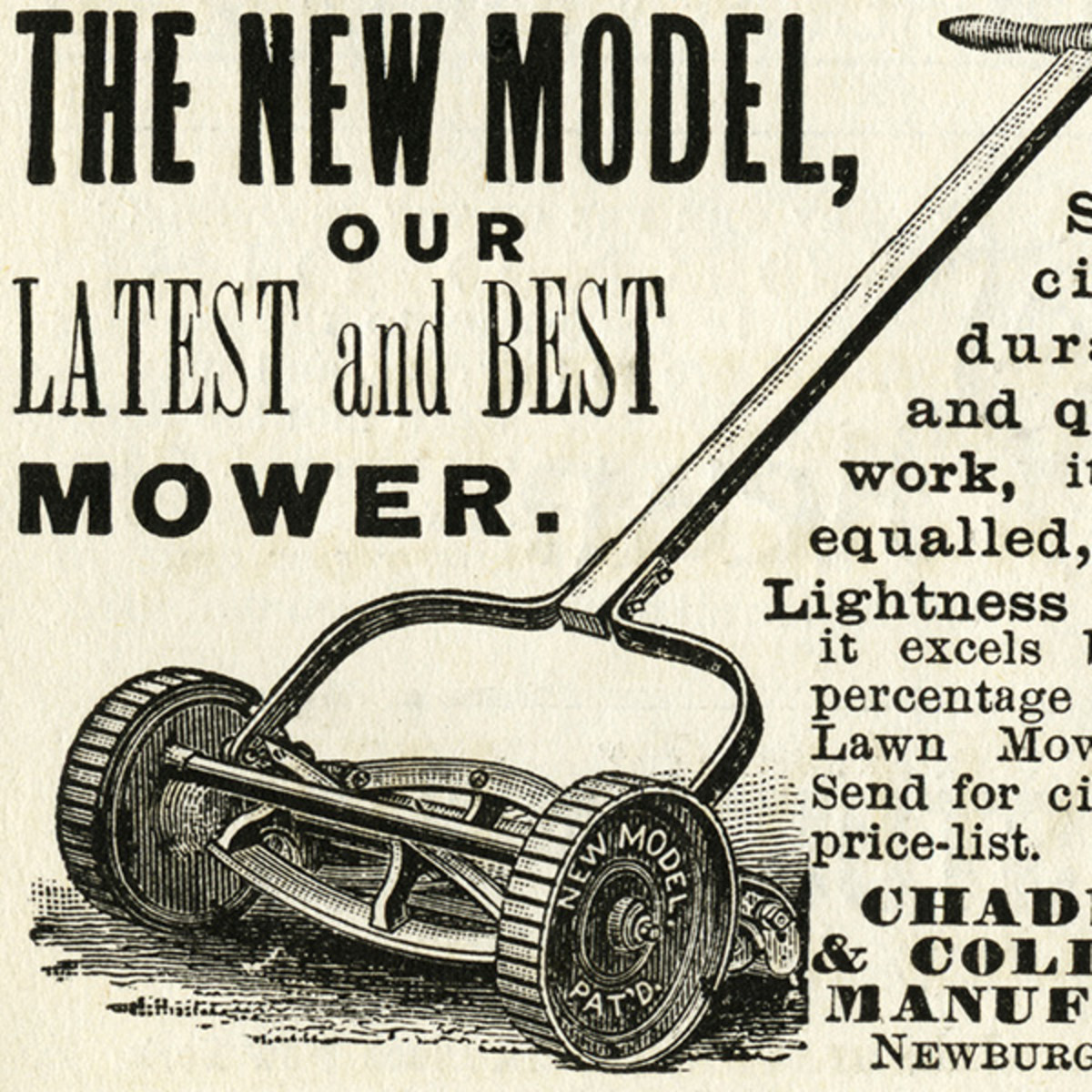 "Remember ""this"" lawnmower, guys, the one that did NOT burn gasoline?"