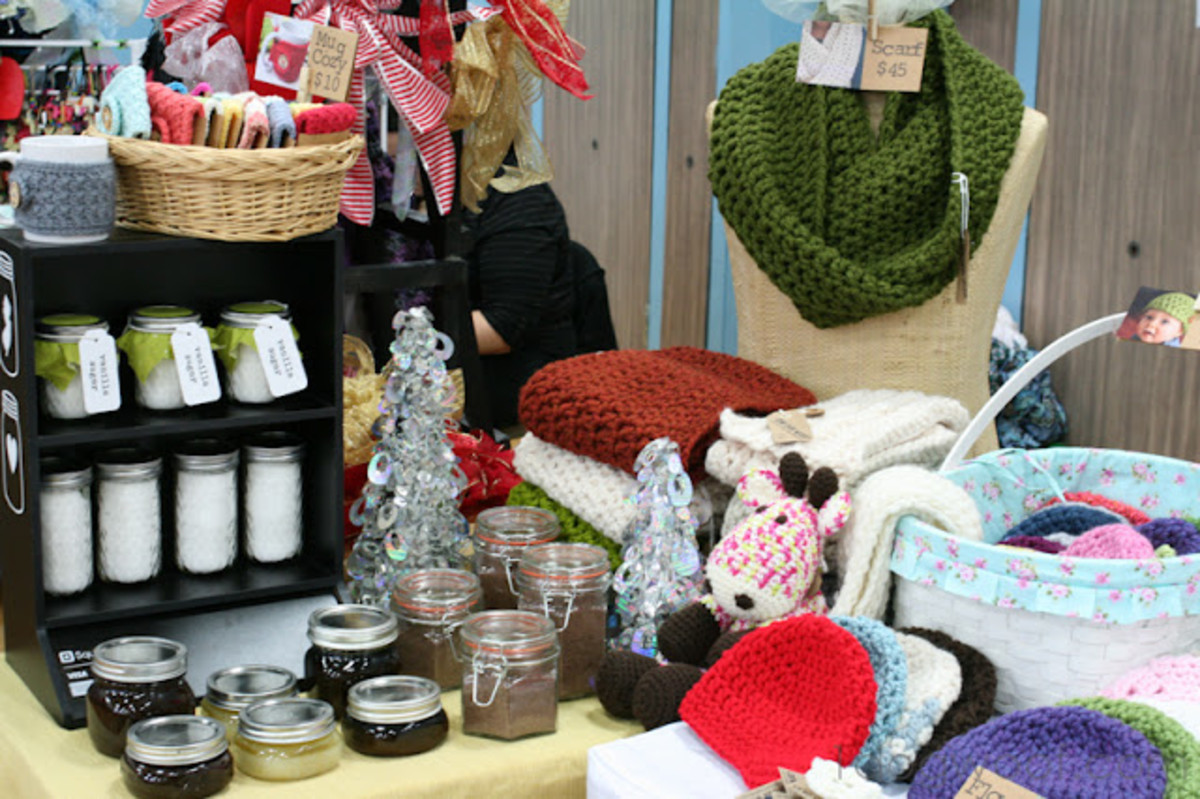 Make Money Selling Knit and Crochet Crafts at Crafts Fairs