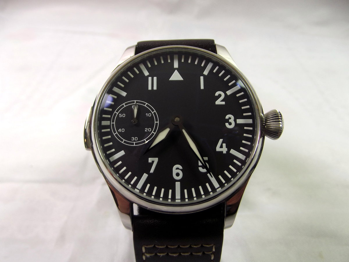 Unbranded Parnis Mechanical Watch with Seagull 6497 Movement
