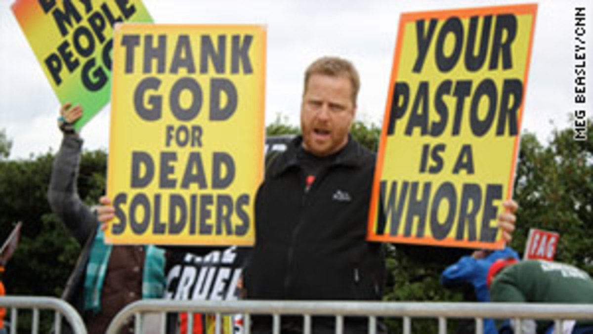 Westboro Baptist Protester
