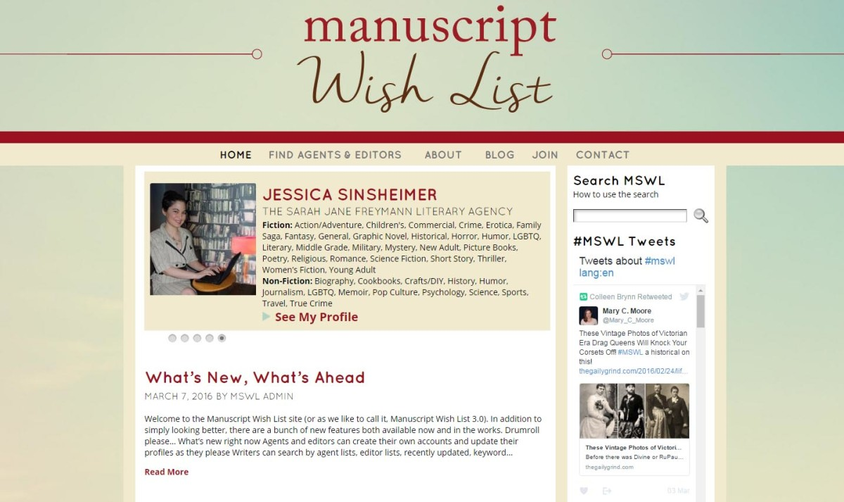 Using the Manuscript Wish List to Find a Literary Agent
