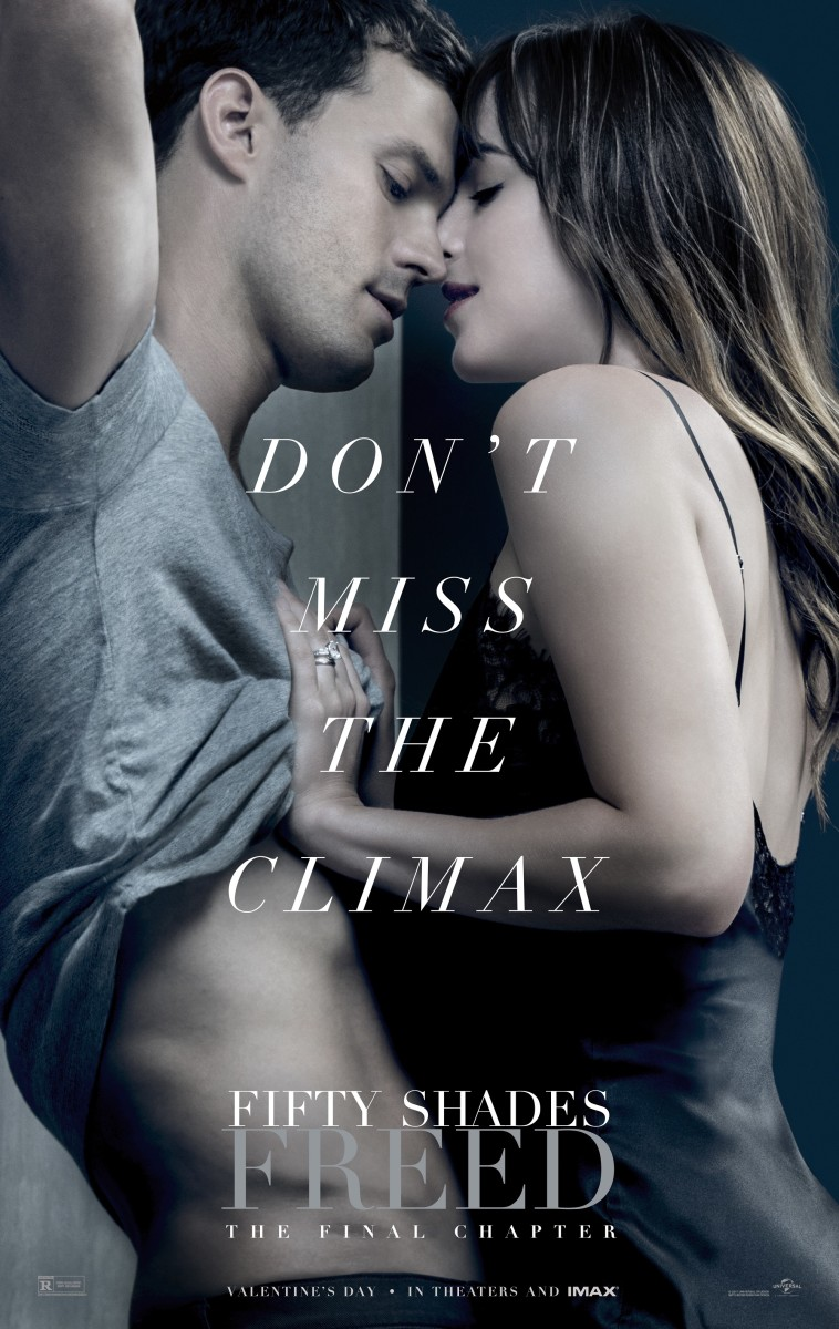 "The official theatrical poster for, ""Fifty Shades Freed."""