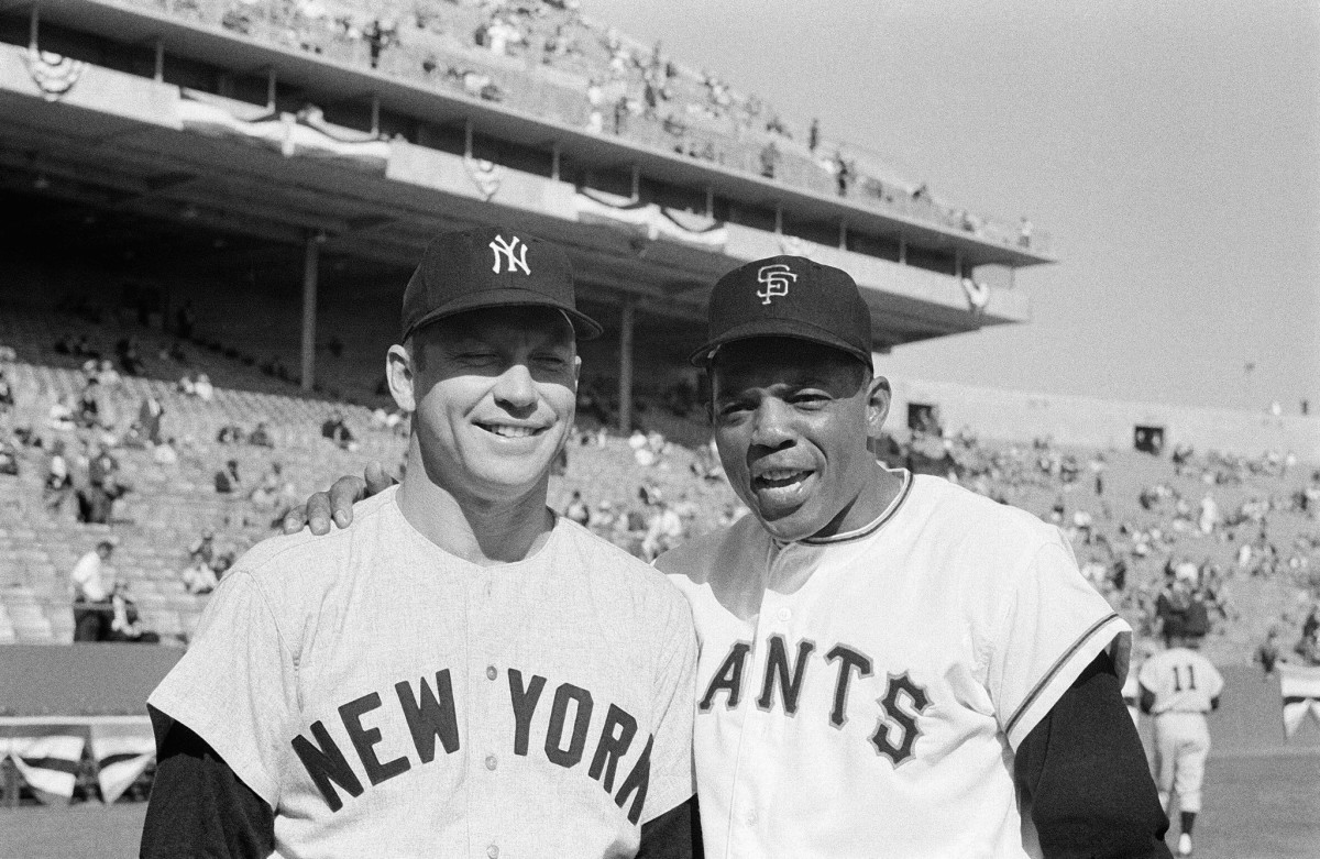 Mickey and Willie before Game 1, 1962 World Series