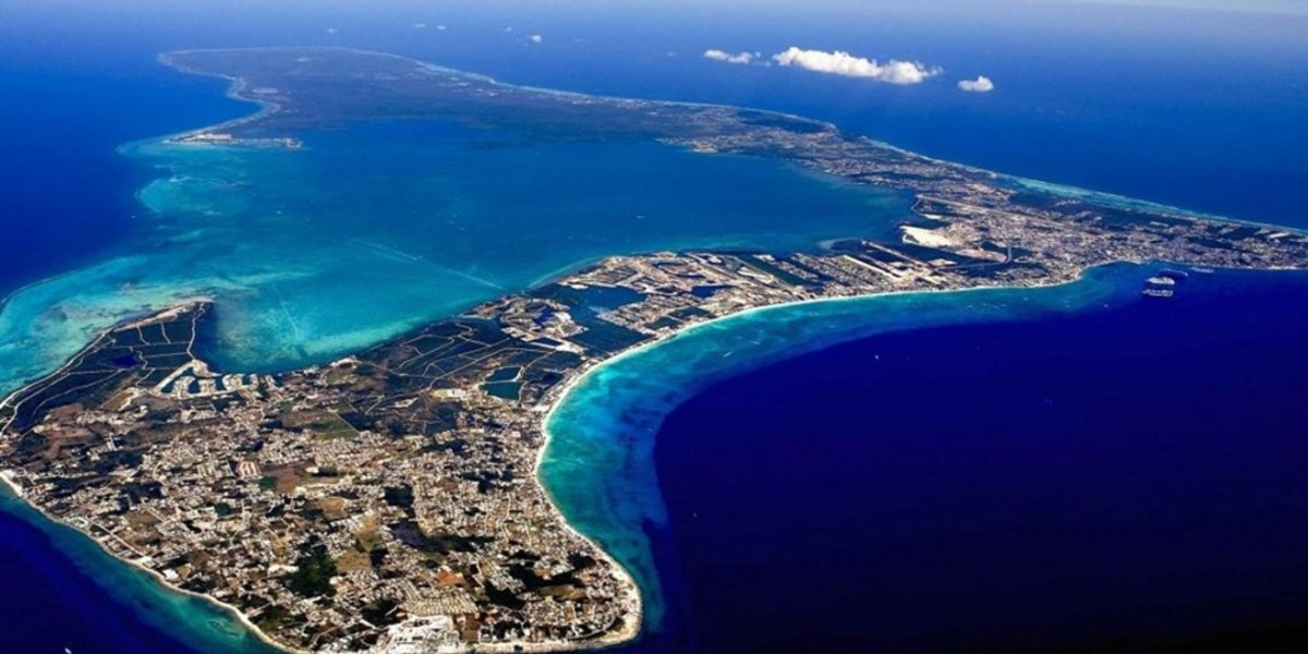 Aerial View of Grand Cayman Island