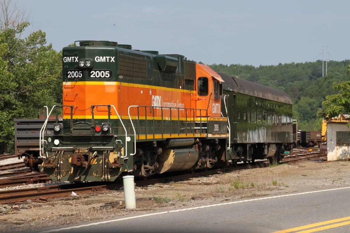 A modern diesel locomotive