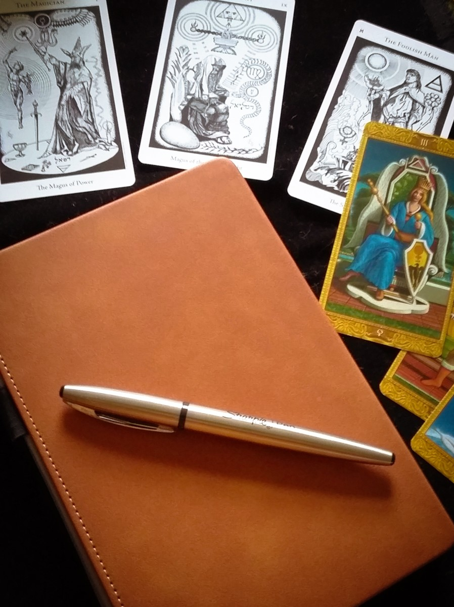 My magickal Lemome notebook/journal.