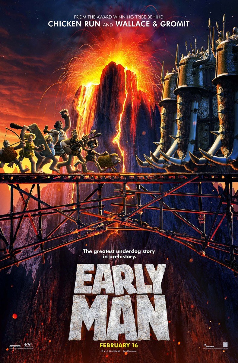"One of several one-sheet theatrical posters for, ""Early Man."""