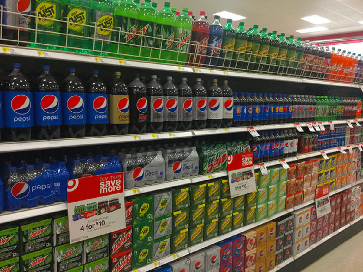 Soda in particular contains an excessive amount of the potentially dangerous artificial sweetener, high fructose corn syrup.