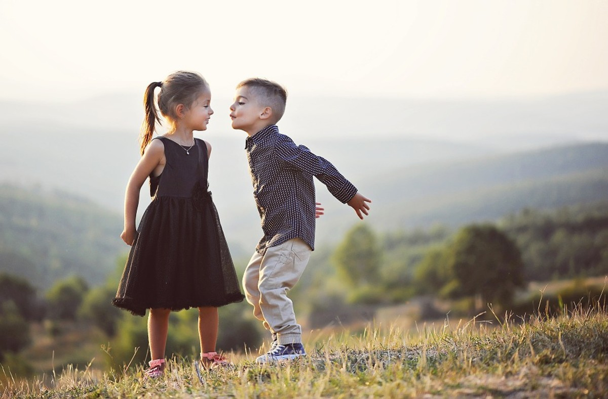 Kissing (can) start at a young age--but have you noticed (in reality) how much kissing is really going on?