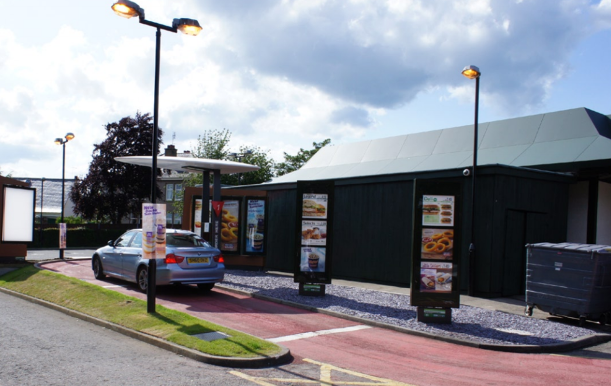 British restaurant  chain with drive through.