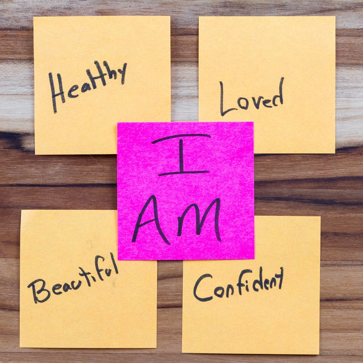 """""""I AM"""" mantras are powerful when written on sticky notes to help us change our subconscious beliefs"""