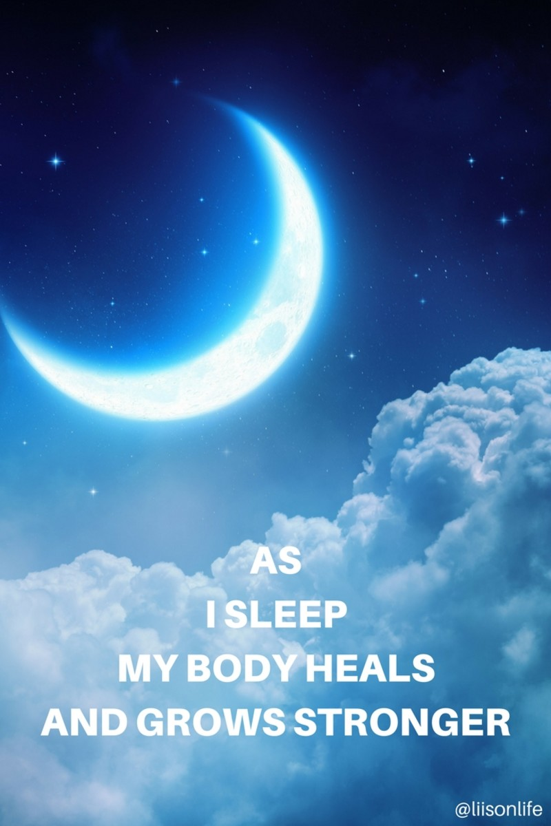 An easy health mantra to recite aloud or in your head before you go to sleep