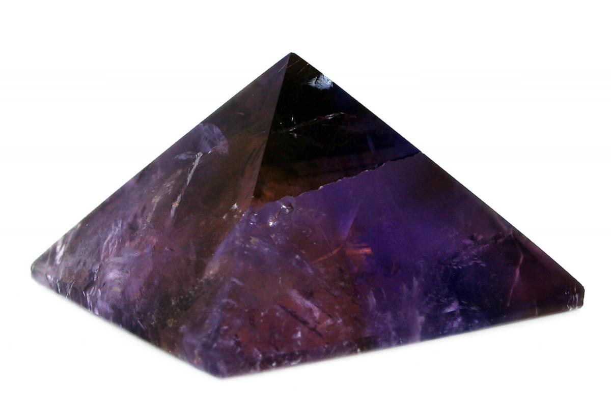 An amethyst pyramid