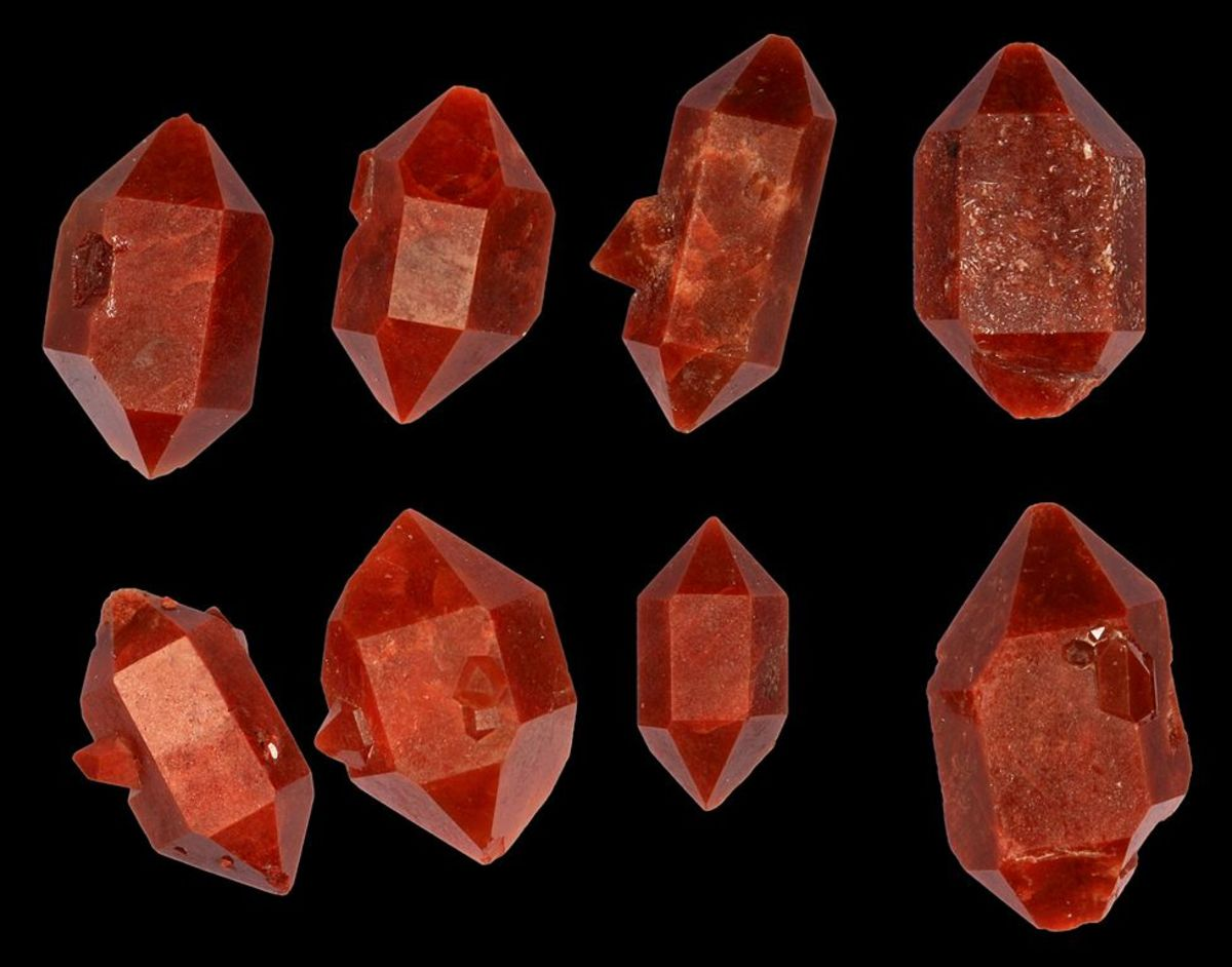 A selection of double terminated crystals