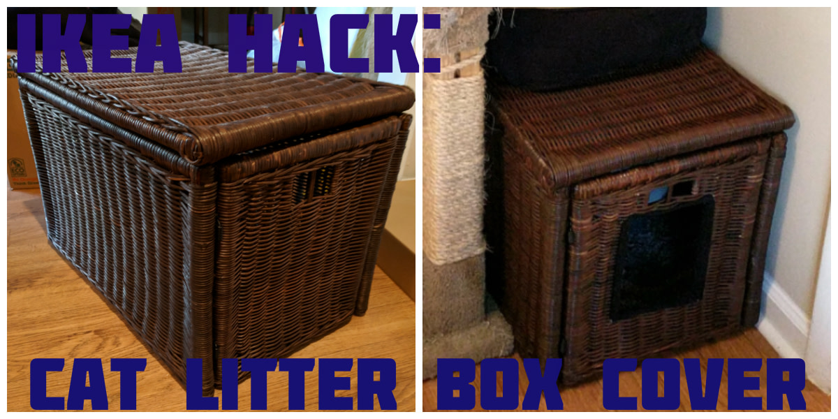 How to Make a Cat Litter Box Cover From a Wicker Hallway Box