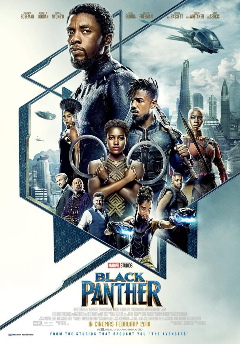 "The IMAX poster for Marvel Studios, ""Black Panther."""