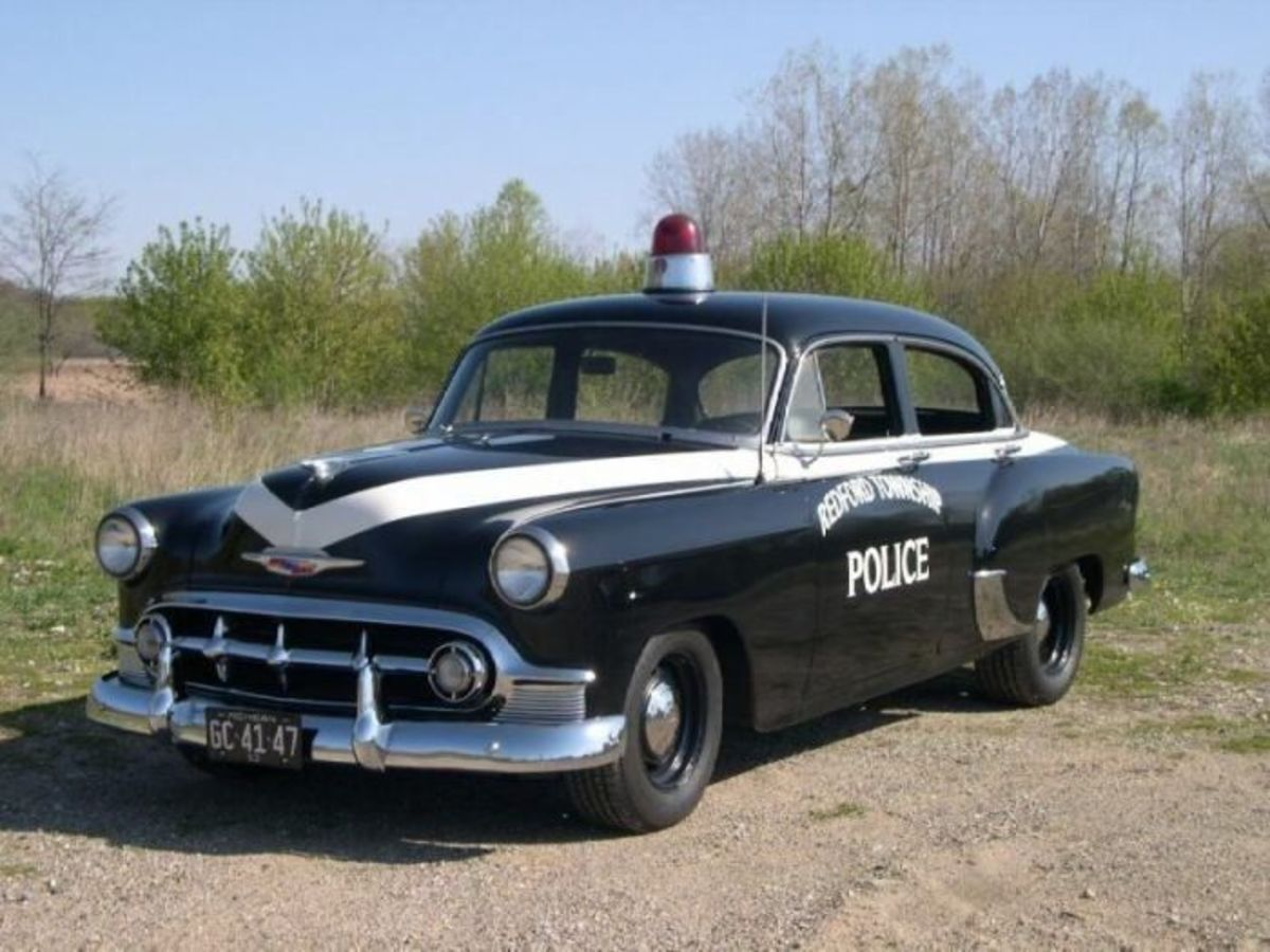 1953 Chevy police car.