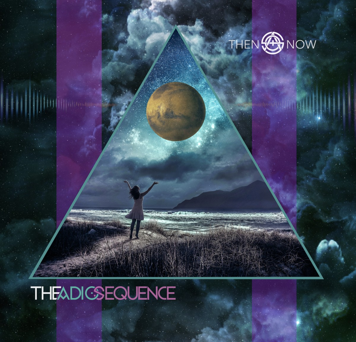 Then & Now, the new album by The Adio Sequence. Artwork created by Josh Myer.