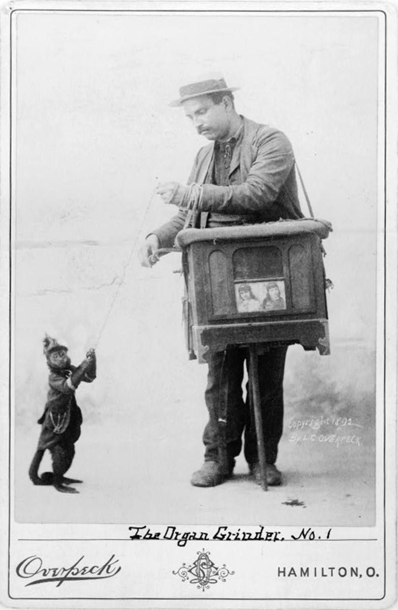 Organ grinder and monkey 1892.