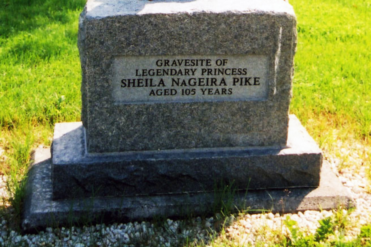 Headstone on what is purported to be the grave site of Princess Sheila NaGeira.