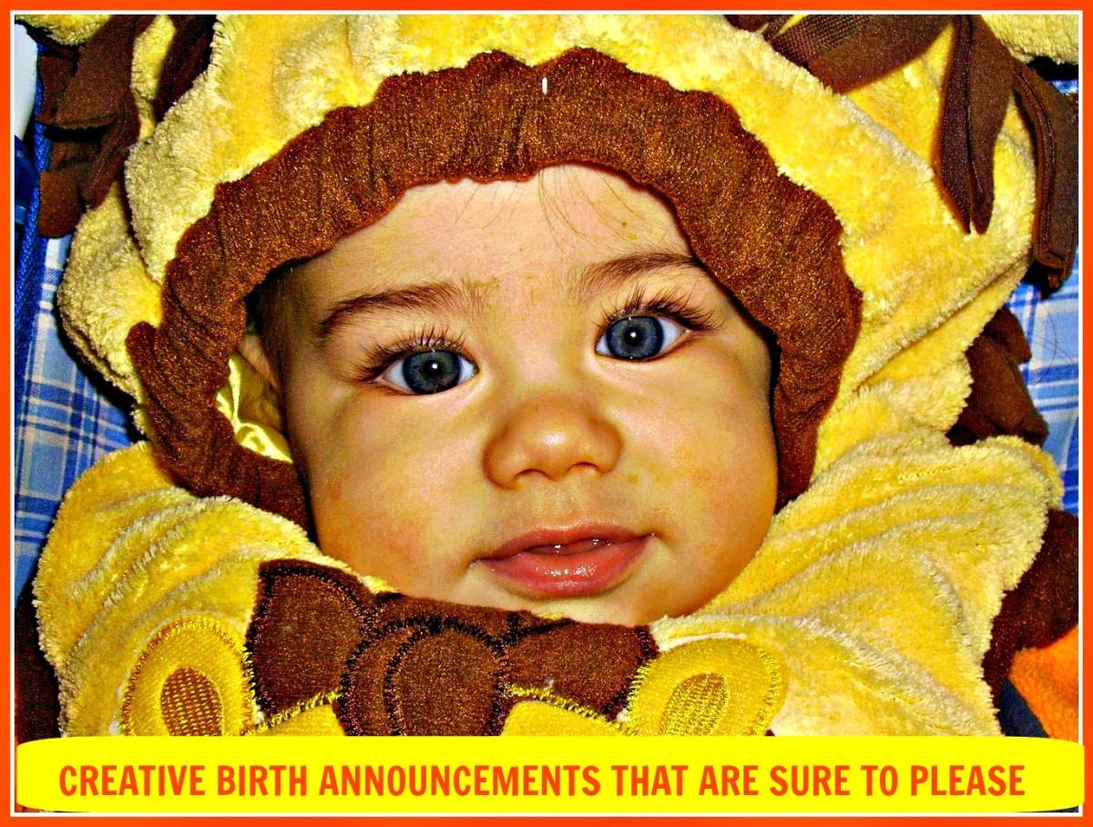 Creative Ideas for Birth Announcements