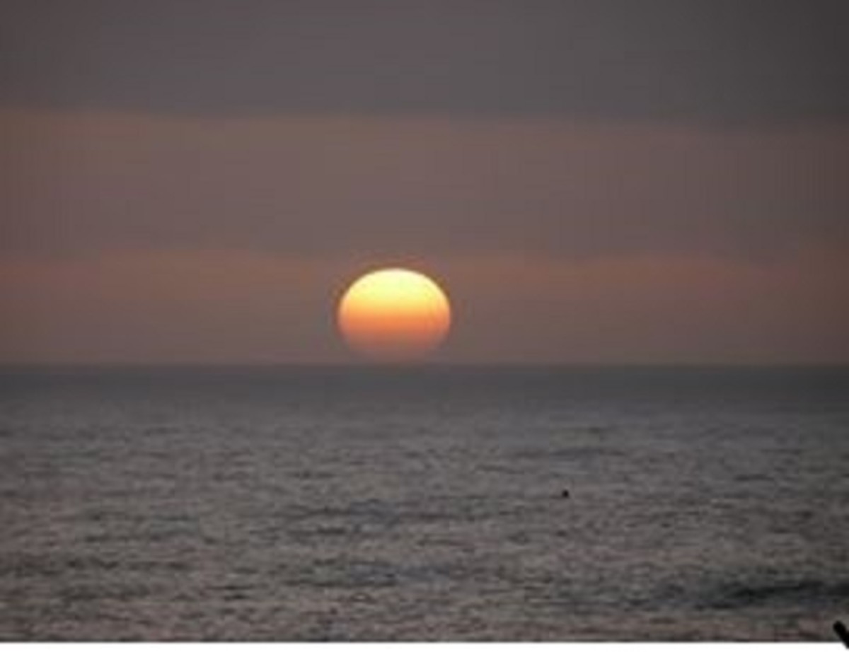 In this undated photo, the sun sets on the Pacific Ocean off California's Big Sur region.