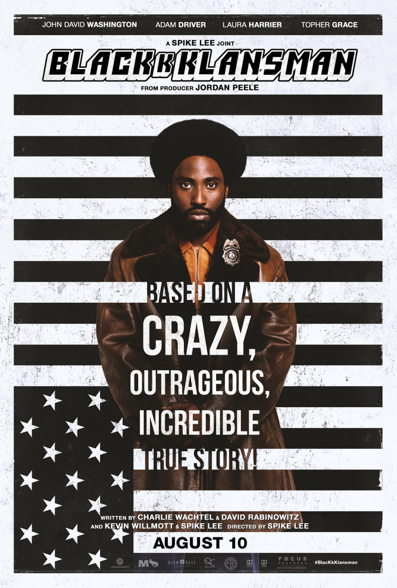 """The official one-sheet theatrical poster for, """"BlacKkKlansman."""""""