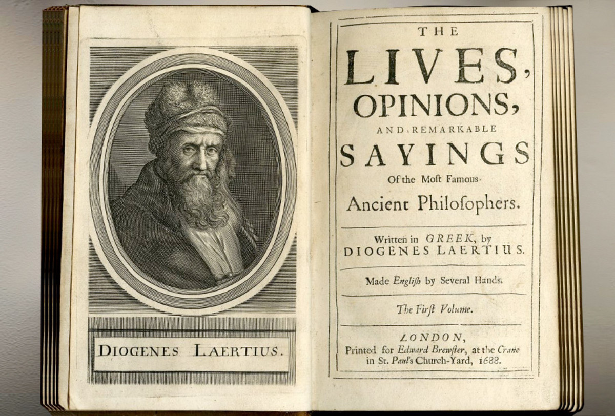 And English edition of the treatise concerning the important ancient Philosophers, by Diogenes Laertius.