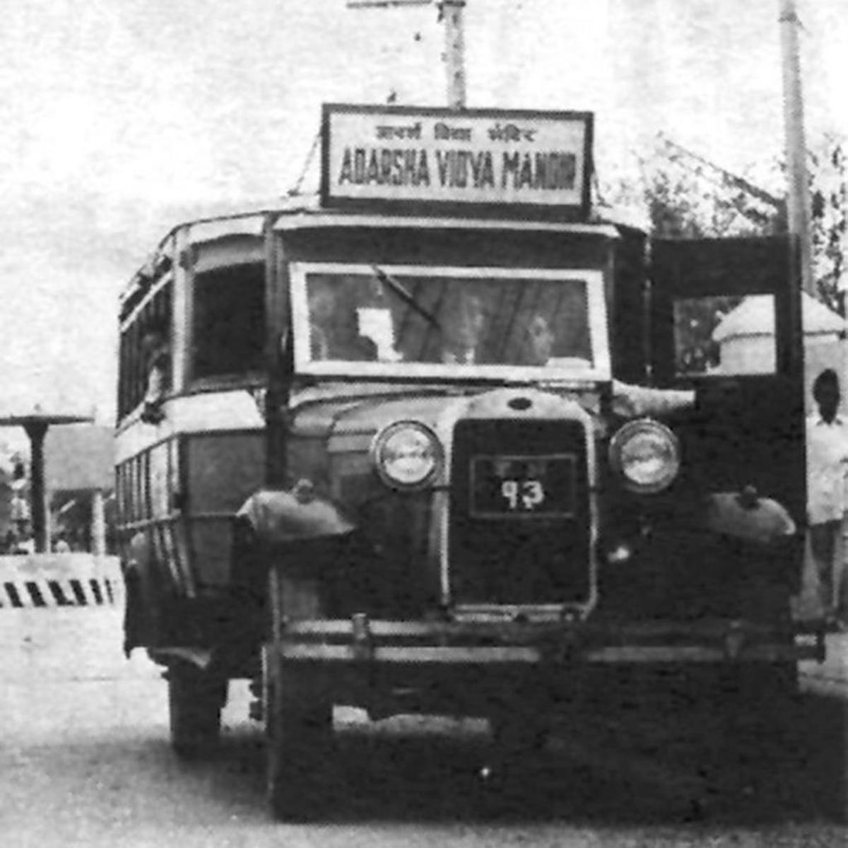 Vintage Ford school bus.