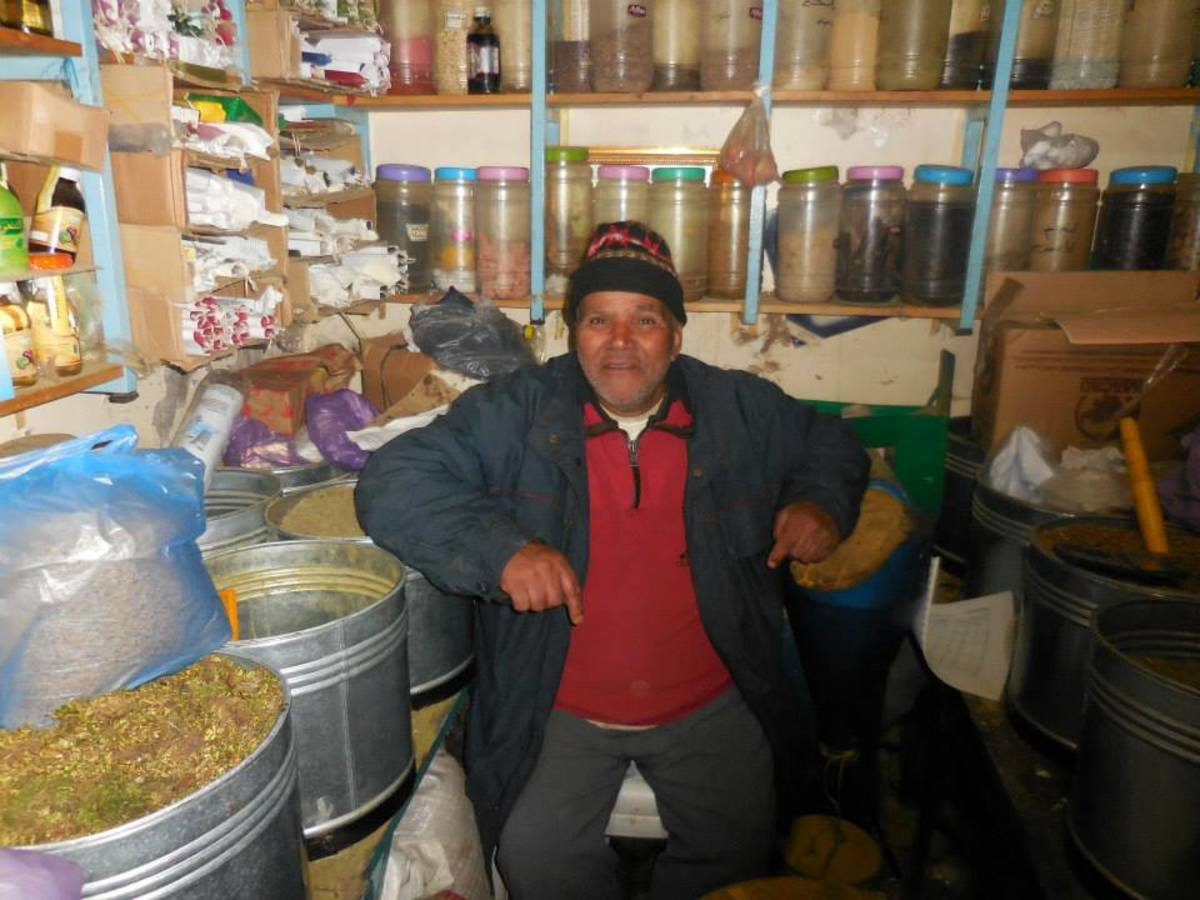 Moroccan mul hanuts (store owners) are a huge part of any community.  They are always helpful and try to help with anything you may need. This mul hanut keeps watch over his shop in Ifrane.