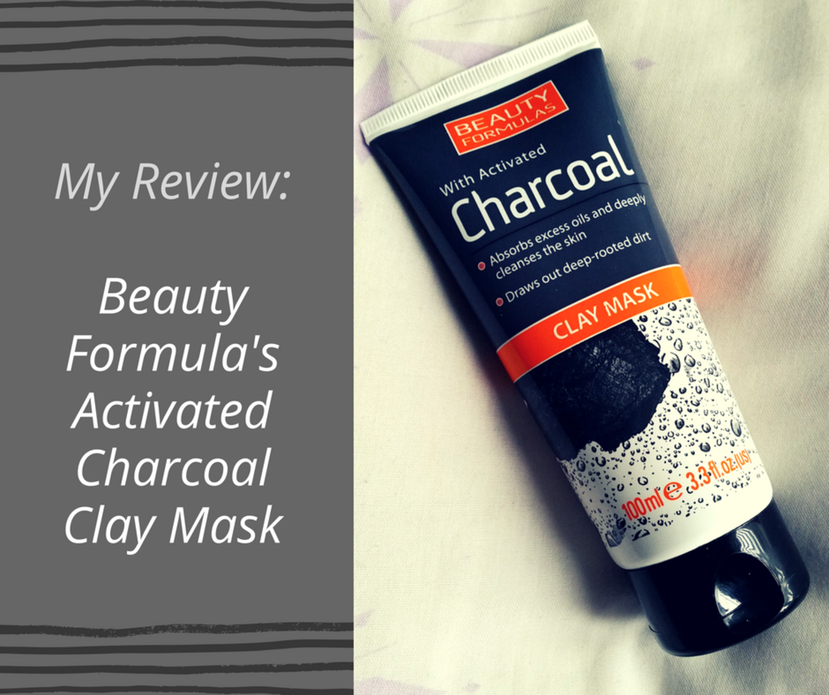 The outer packaging of the Beauty Formulas Activated Charcoal Clay Mask.