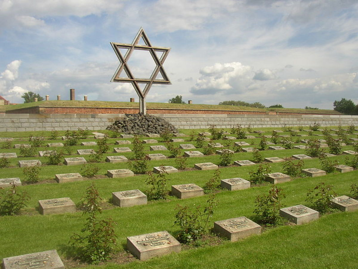 Memorial to Theresienstadt's victims.