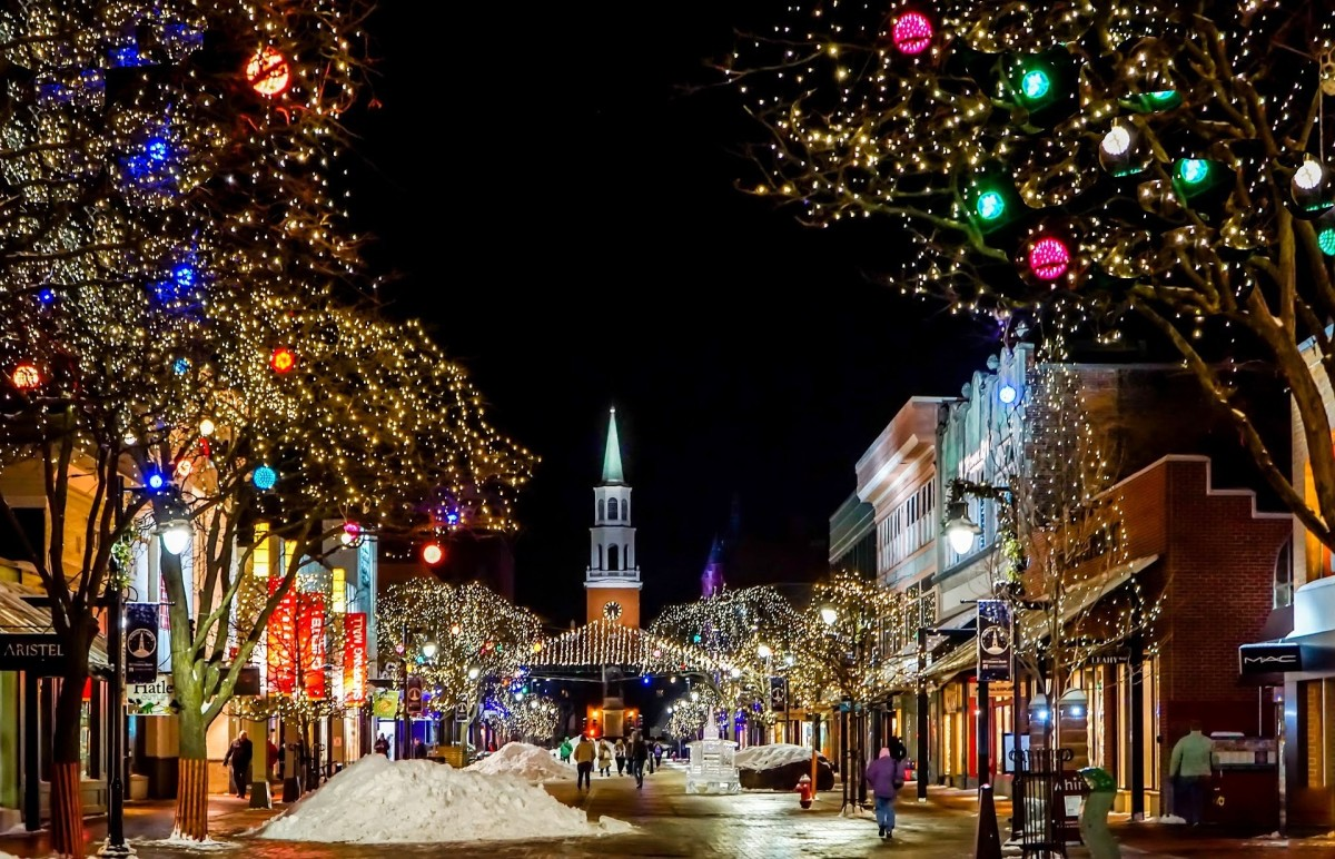 Burlington, Vermont's beloved Church Street shopping district.